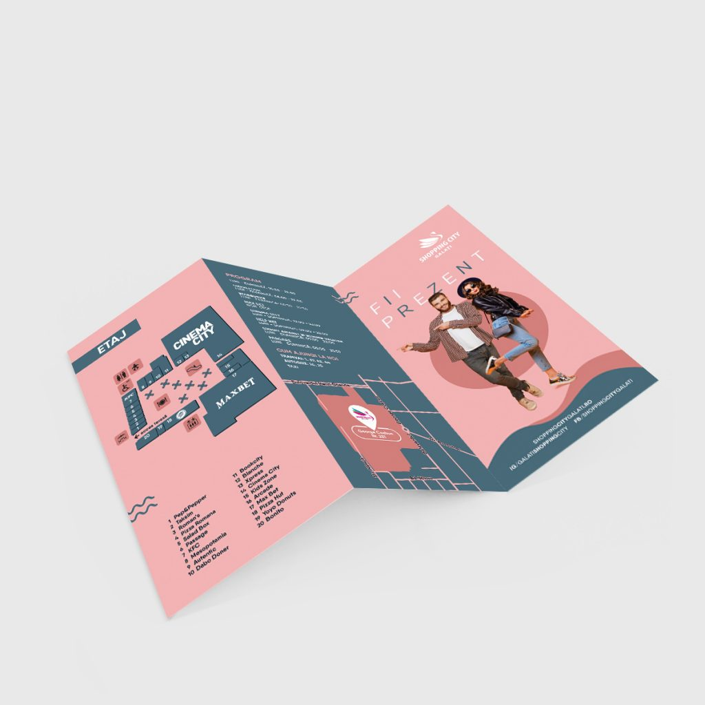 Pliant trifold – Shopping City Galați