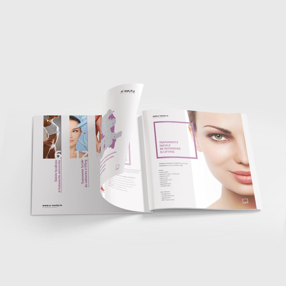 Broșură de prezentare a serviciilor aBeauty Clinique